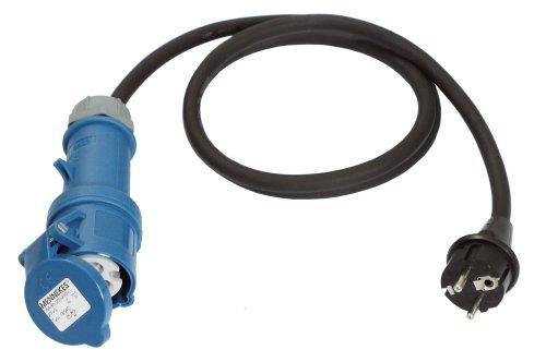 as - Schwabe 60486 Adapterleitung 230V / 16A / 3polig, 1,5m H07RN-F 3G2,5, IP44 Aussenbereich